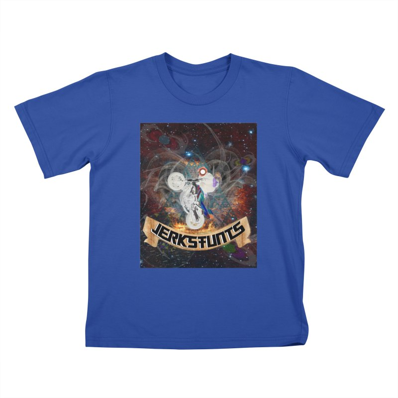 SPACE TEAM JERKSTUNTS Kids T-Shirt by ExploreDaily's Artist Shop