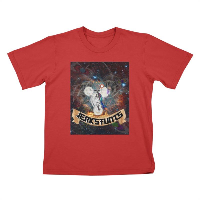 SPACE TEAM JERKSTUNTS Kids T-Shirt by ExploreDaily's Artist Shop