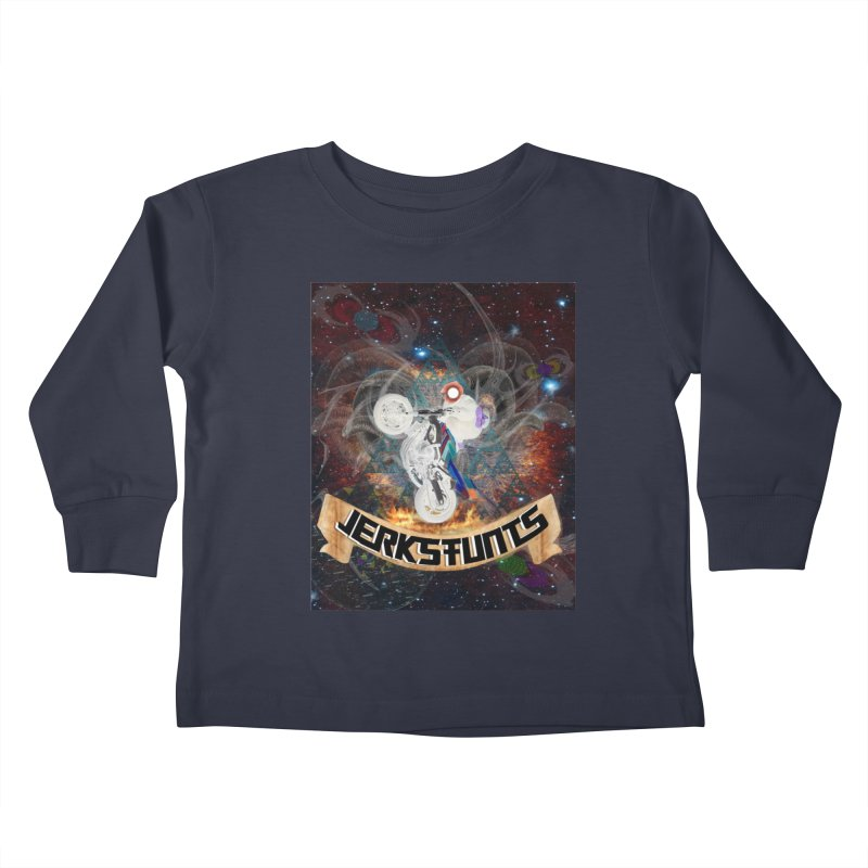 SPACE TEAM JERKSTUNTS Kids Toddler Longsleeve T-Shirt by ExploreDaily's Artist Shop