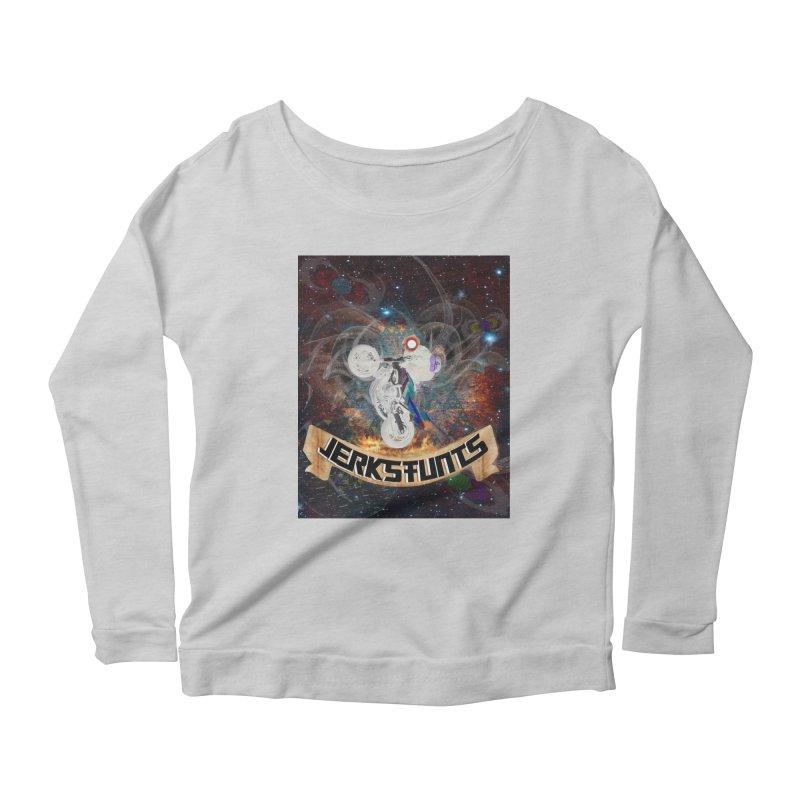 SPACE TEAM JERKSTUNTS Women's Scoop Neck Longsleeve T-Shirt by ExploreDaily's Artist Shop