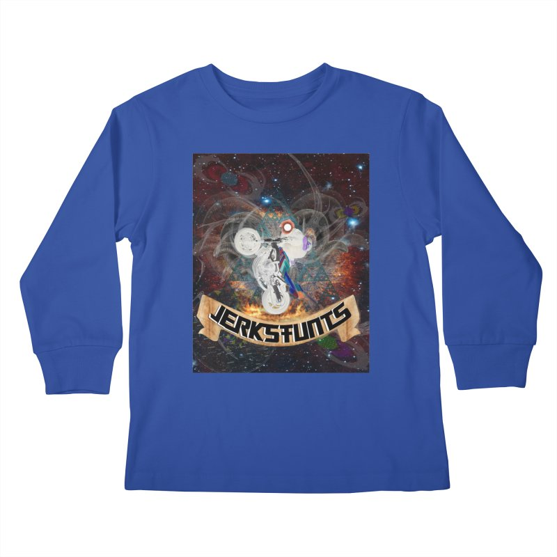 SPACE TEAM JERKSTUNTS Kids Longsleeve T-Shirt by ExploreDaily's Artist Shop
