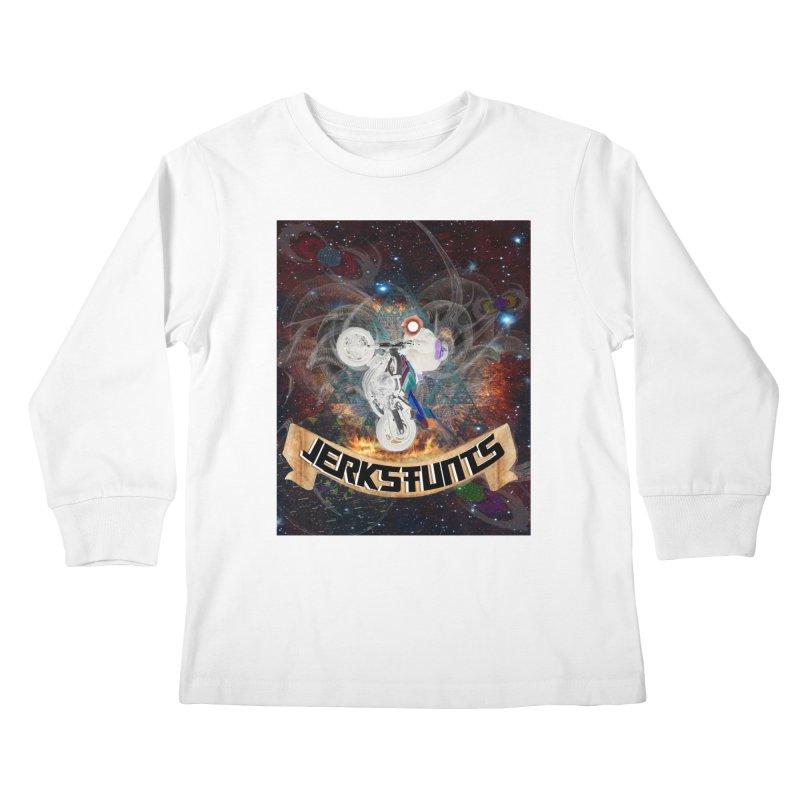 SPACE TEAM JERKSTUNTS Kids Longsleeve T-Shirt by ExploreDaily's Artist Shop