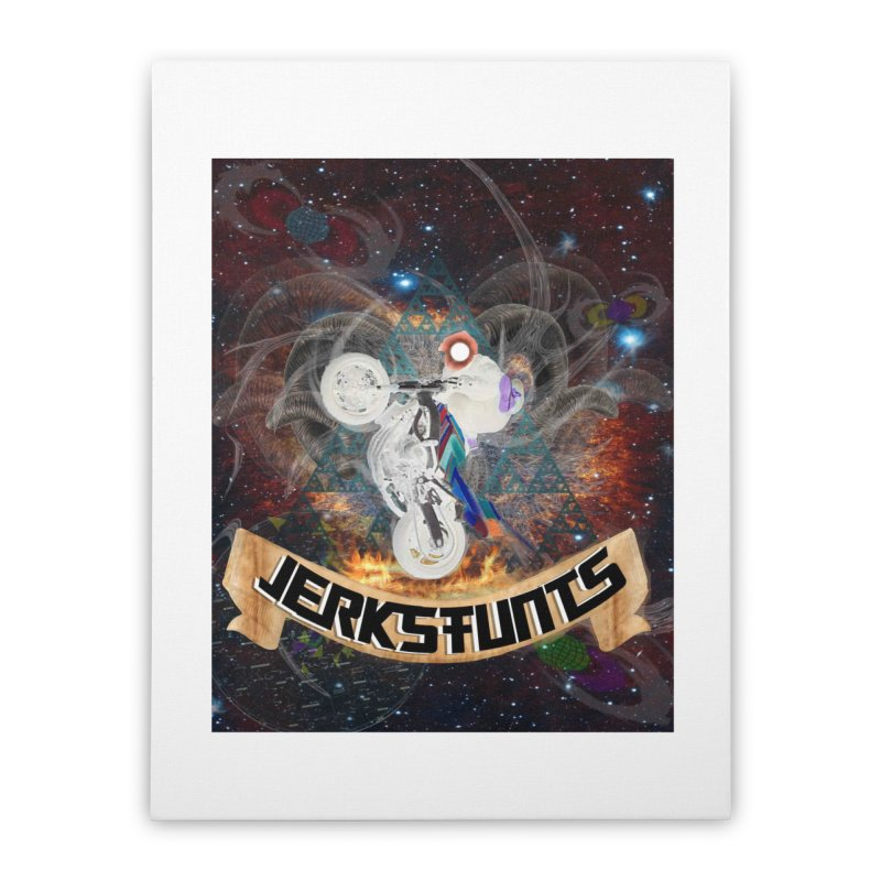 SPACE TEAM JERKSTUNTS Home Stretched Canvas by ExploreDaily's Artist Shop