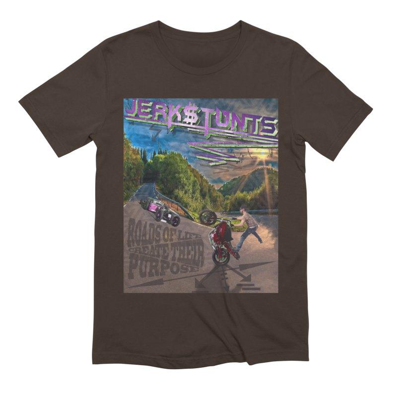 ROADS OF LIFE JERKSTUNTS Men's Extra Soft T-Shirt by ExploreDaily's Artist Shop