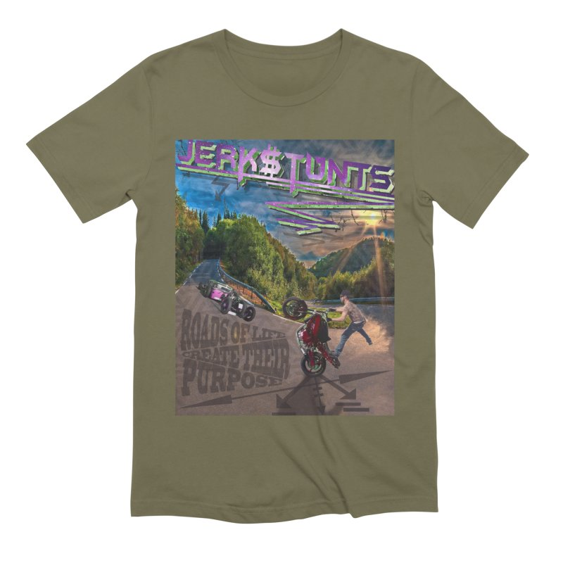 ROADS OF LIFE JERKSTUNTS Men's Extra Soft T-Shirt by ExploreDaily's Artist Shop