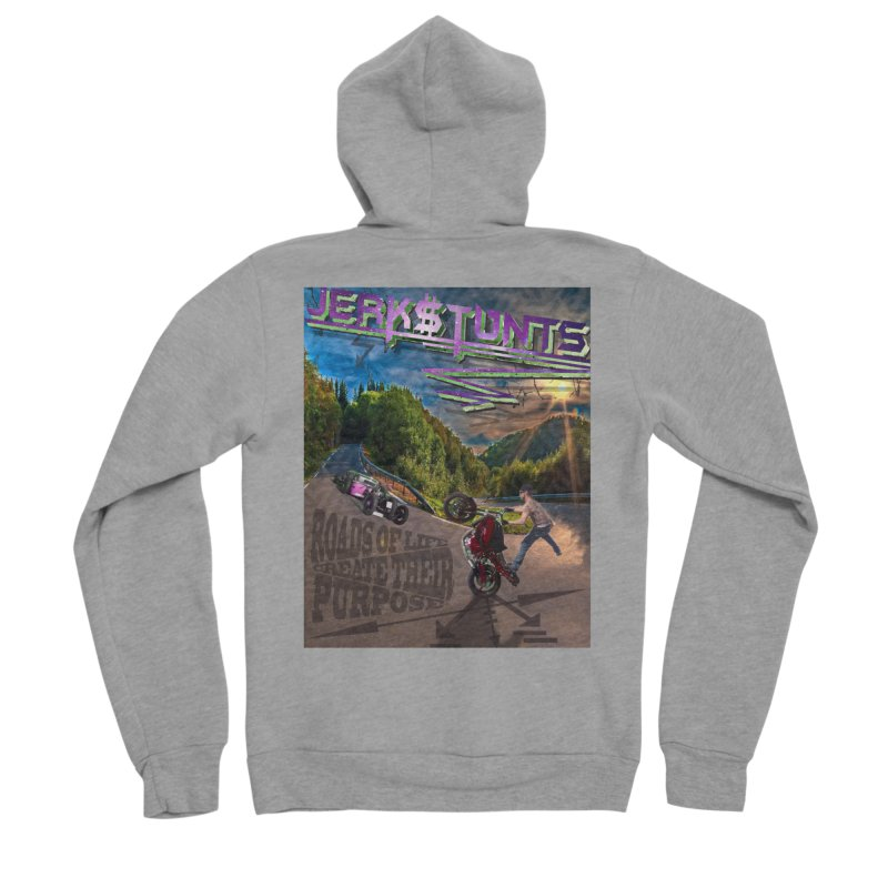 ROADS OF LIFE JERKSTUNTS Women's Sponge Fleece Zip-Up Hoody by ExploreDaily's Artist Shop