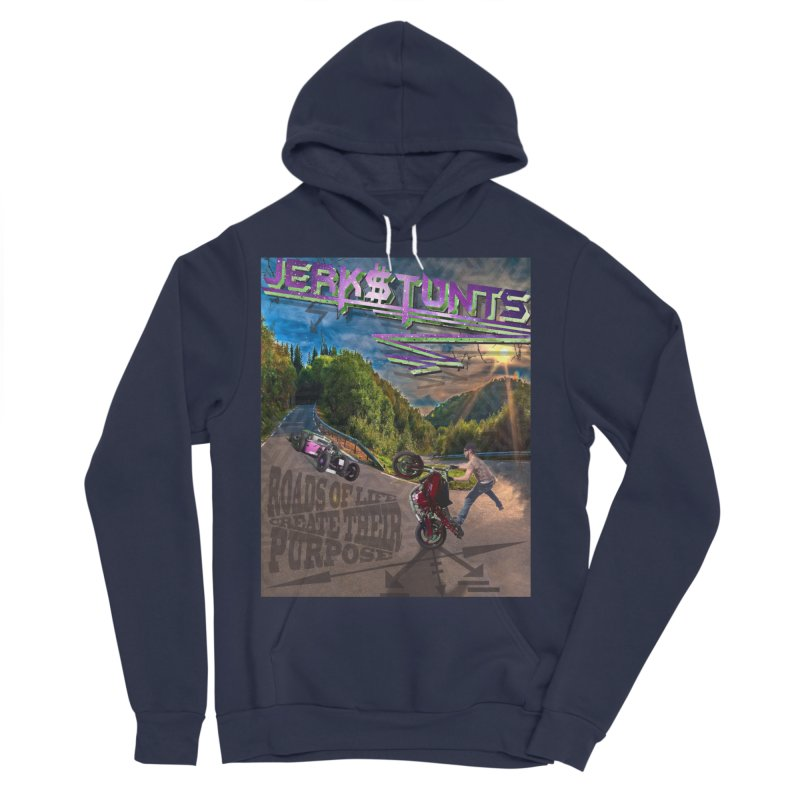 ROADS OF LIFE JERKSTUNTS Men's Sponge Fleece Pullover Hoody by ExploreDaily's Artist Shop
