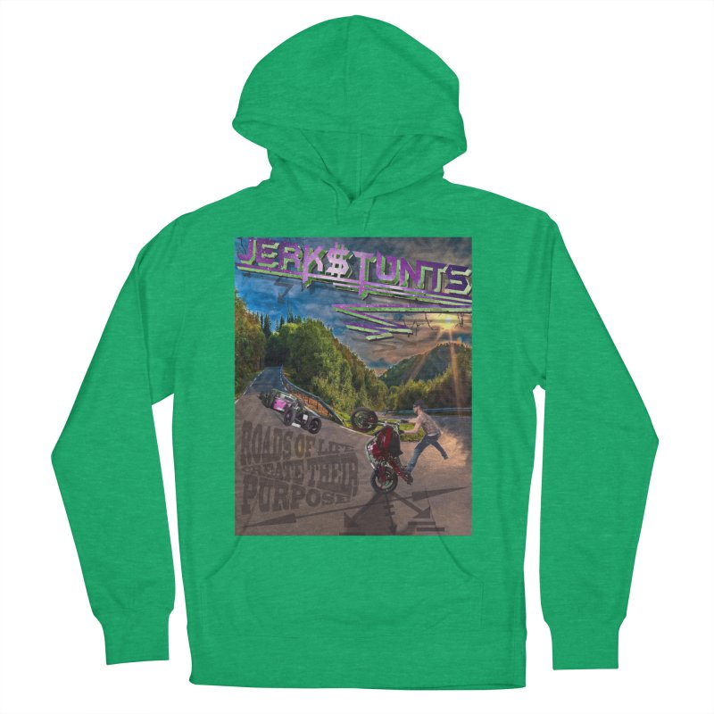 ROADS OF LIFE JERKSTUNTS Women's French Terry Pullover Hoody by ExploreDaily's Artist Shop