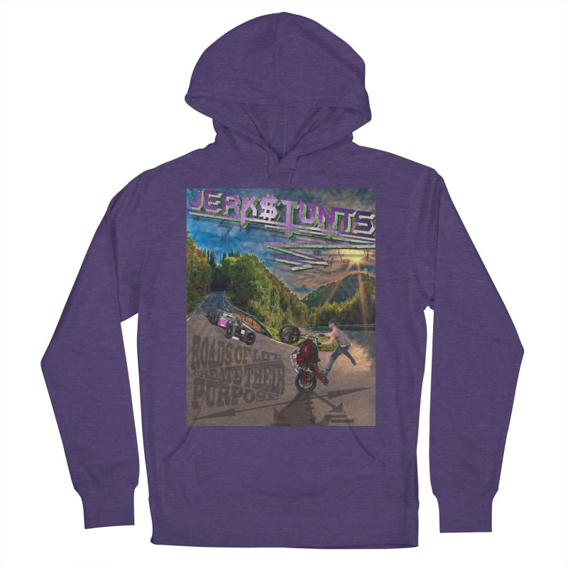 ROADS OF LIFE JERKSTUNTS Men's French Terry Pullover Hoody by ExploreDaily's Artist Shop