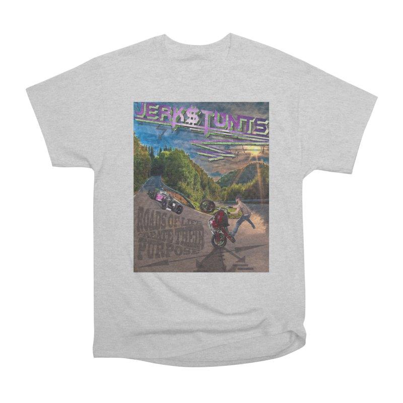 ROADS OF LIFE JERKSTUNTS Men's Heavyweight T-Shirt by ExploreDaily's Artist Shop