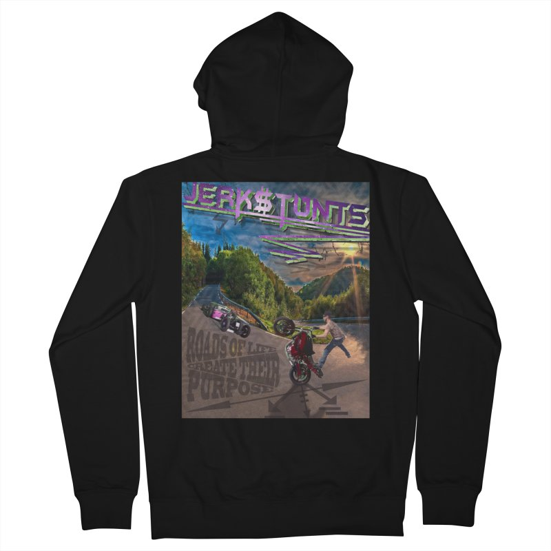ROADS OF LIFE JERKSTUNTS Women's French Terry Zip-Up Hoody by ExploreDaily's Artist Shop
