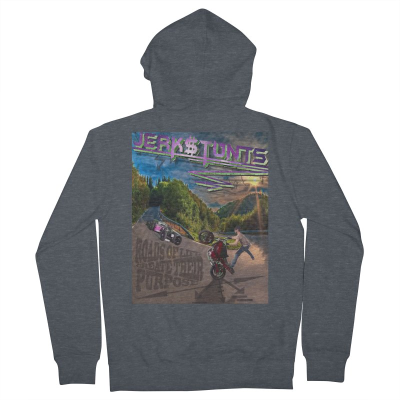 ROADS OF LIFE JERKSTUNTS Men's French Terry Zip-Up Hoody by ExploreDaily's Artist Shop