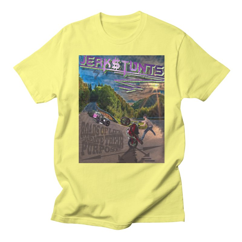 ROADS OF LIFE JERKSTUNTS Men's T-Shirt by ExploreDaily's Artist Shop