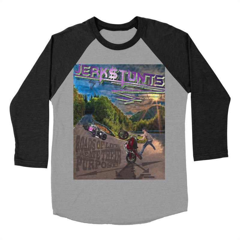 ROADS OF LIFE JERKSTUNTS Men's Baseball Triblend Longsleeve T-Shirt by ExploreDaily's Artist Shop