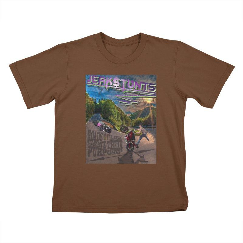 ROADS OF LIFE JERKSTUNTS Kids T-Shirt by ExploreDaily's Artist Shop