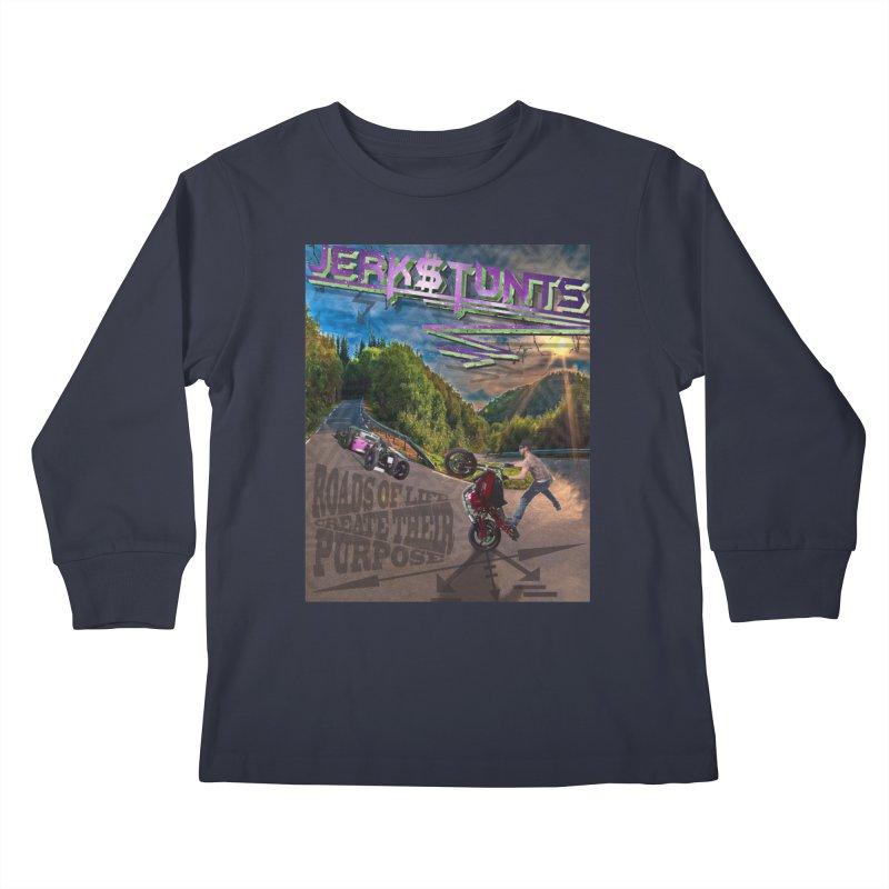 ROADS OF LIFE JERKSTUNTS Kids Longsleeve T-Shirt by ExploreDaily's Artist Shop