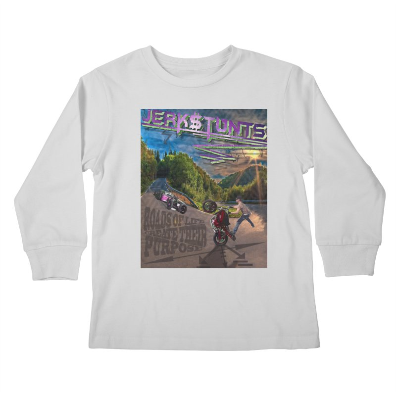 ROADS OF LIFE JERKSTUNTS Kids Longsleeve T-Shirt by ExploreDaily's Artist Shop