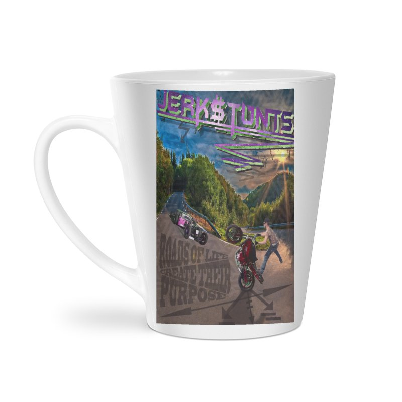 ROADS OF LIFE JERKSTUNTS Accessories Latte Mug by ExploreDaily's Artist Shop