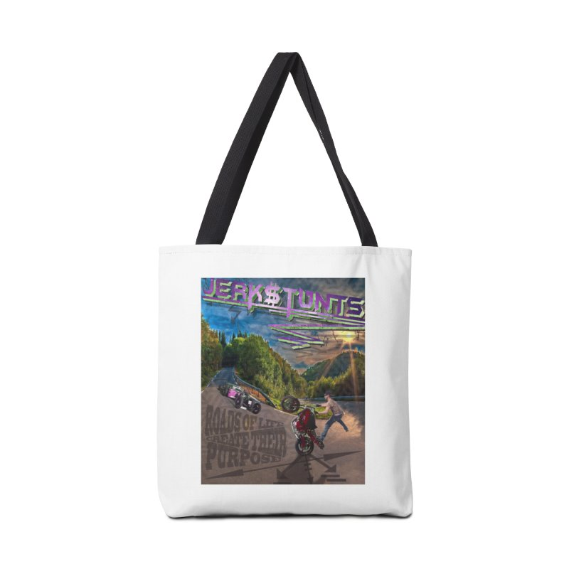ROADS OF LIFE JERKSTUNTS Accessories Tote Bag Bag by ExploreDaily's Artist Shop