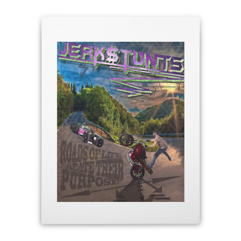 ROADS OF LIFE JERKSTUNTS Home Stretched Canvas by ExploreDaily's Artist Shop