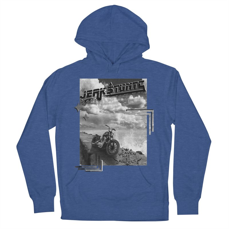 HEAVEN HAS 2 WHEELS CYBERTECH REMIX Men's French Terry Pullover Hoody by ExploreDaily's Artist Shop