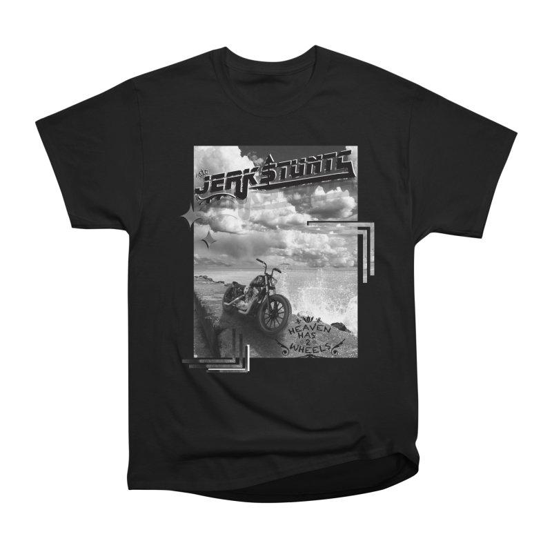 HEAVEN HAS 2 WHEELS CYBERTECH REMIX Men's Heavyweight T-Shirt by ExploreDaily's Artist Shop