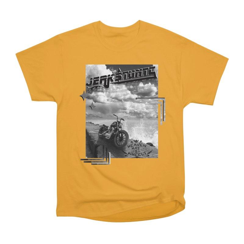 HEAVEN HAS 2 WHEELS CYBERTECH REMIX Women's Heavyweight Unisex T-Shirt by ExploreDaily's Artist Shop