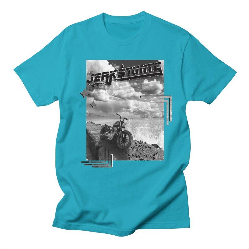 HEAVEN HAS 2 WHEELS CYBERTECH REMIX Men's Regular T-Shirt by ExploreDaily's Artist Shop