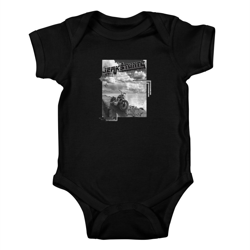 HEAVEN HAS 2 WHEELS CYBERTECH REMIX Kids Baby Bodysuit by ExploreDaily's Artist Shop