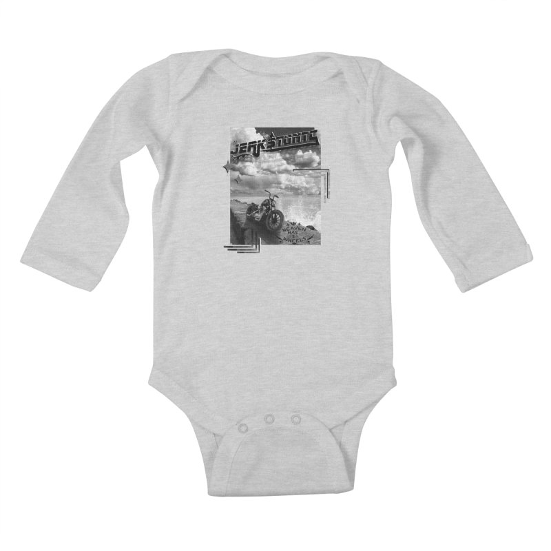 HEAVEN HAS 2 WHEELS CYBERTECH REMIX Kids Baby Longsleeve Bodysuit by ExploreDaily's Artist Shop