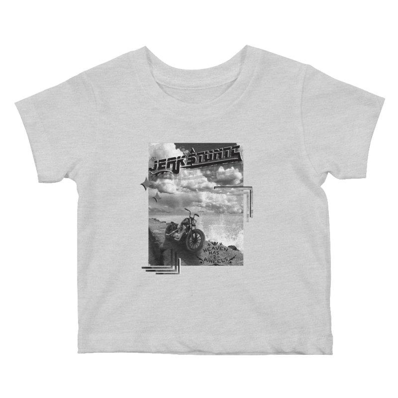 HEAVEN HAS 2 WHEELS CYBERTECH REMIX Kids Baby T-Shirt by ExploreDaily's Artist Shop