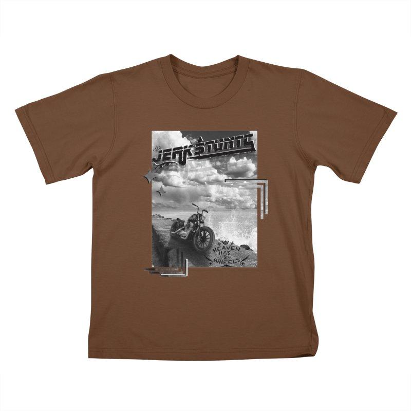 HEAVEN HAS 2 WHEELS CYBERTECH REMIX Kids T-Shirt by ExploreDaily's Artist Shop