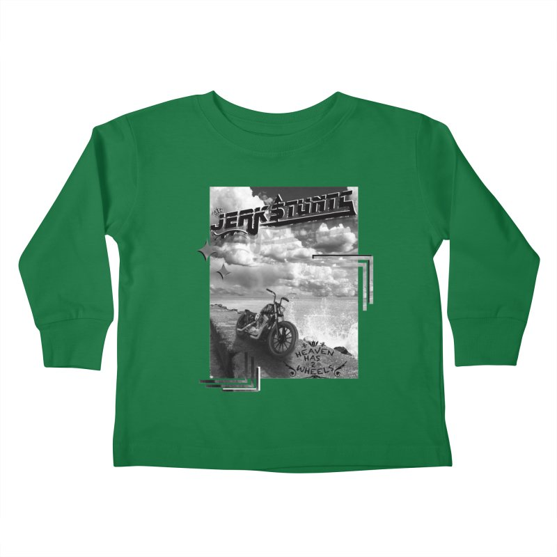 HEAVEN HAS 2 WHEELS CYBERTECH REMIX Kids Toddler Longsleeve T-Shirt by ExploreDaily's Artist Shop