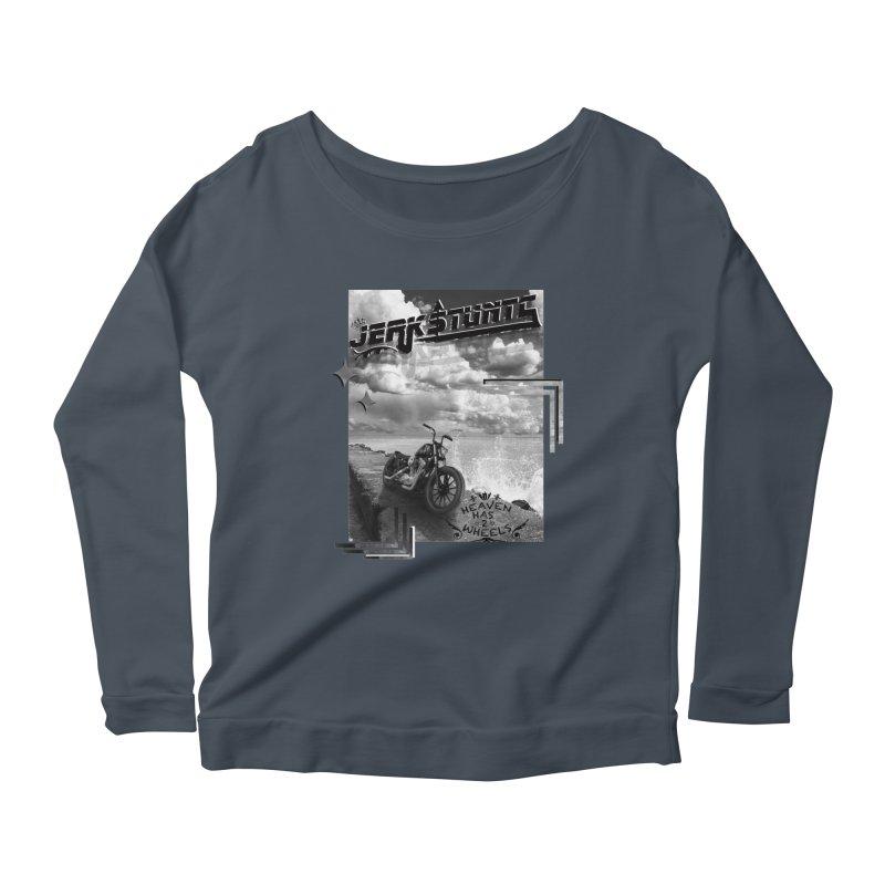HEAVEN HAS 2 WHEELS CYBERTECH REMIX Women's Scoop Neck Longsleeve T-Shirt by ExploreDaily's Artist Shop