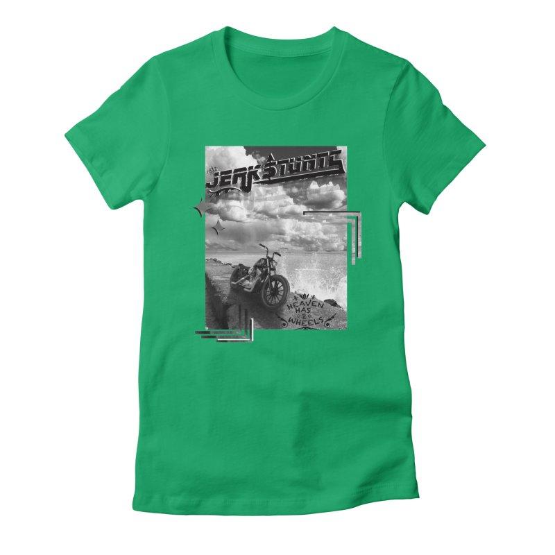 HEAVEN HAS 2 WHEELS CYBERTECH REMIX Women's Fitted T-Shirt by ExploreDaily's Artist Shop