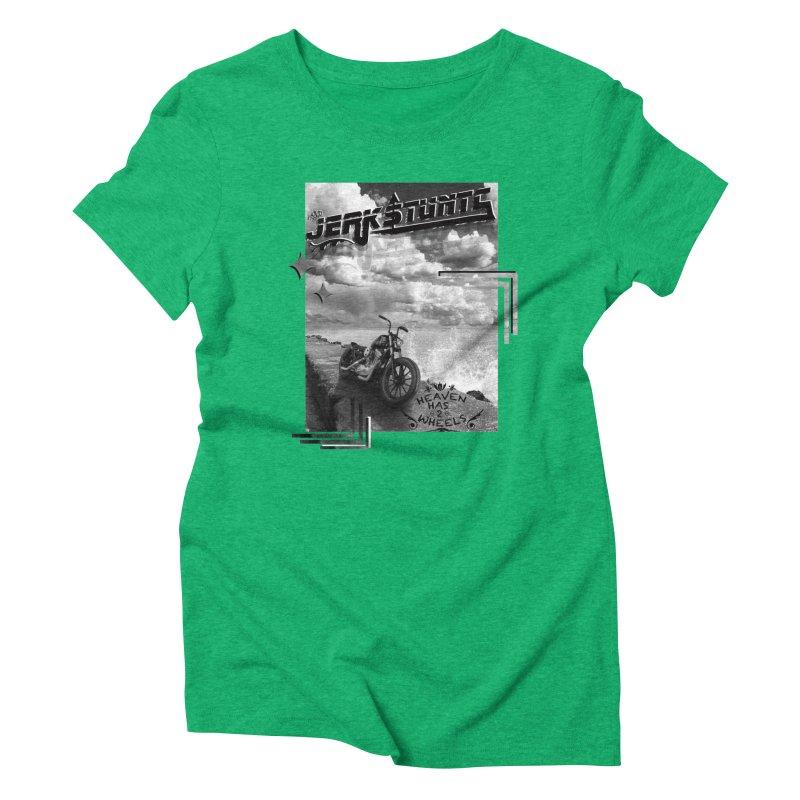 HEAVEN HAS 2 WHEELS CYBERTECH REMIX Women's Triblend T-Shirt by ExploreDaily's Artist Shop
