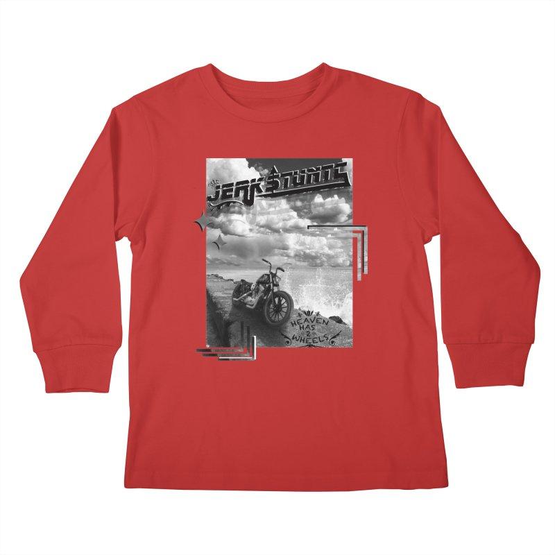 HEAVEN HAS 2 WHEELS CYBERTECH REMIX Kids Longsleeve T-Shirt by ExploreDaily's Artist Shop