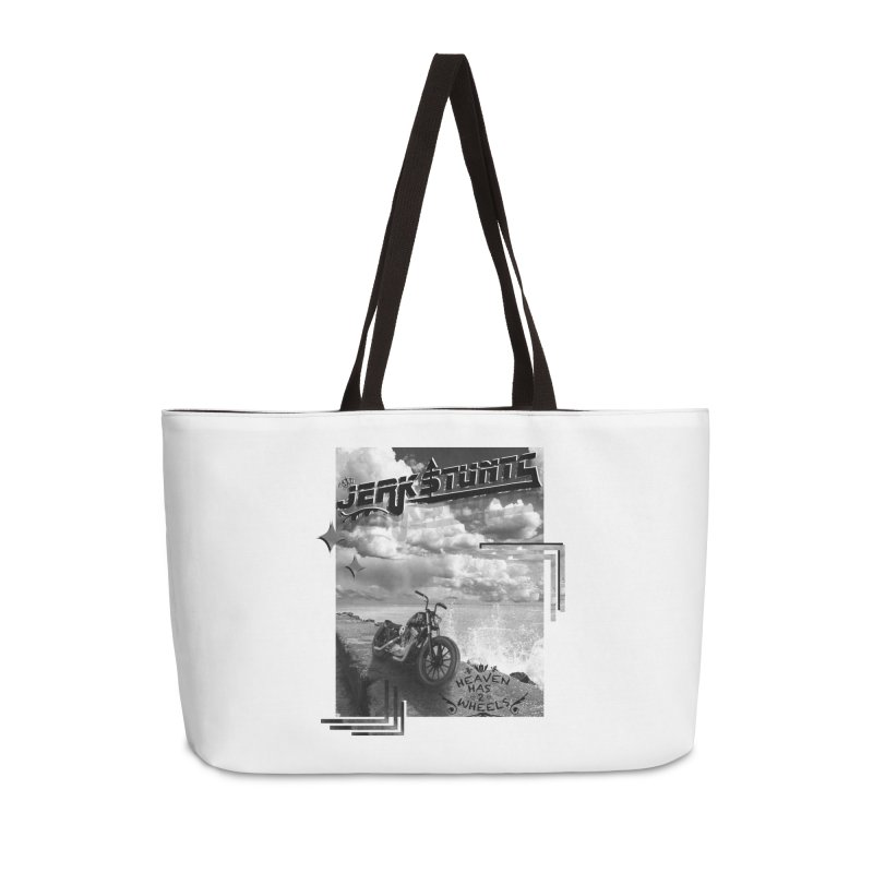 HEAVEN HAS 2 WHEELS CYBERTECH REMIX Accessories Weekender Bag Bag by ExploreDaily's Artist Shop