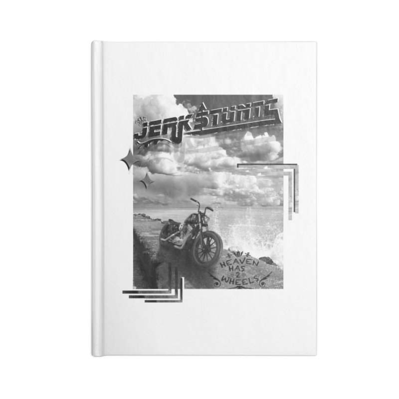 HEAVEN HAS 2 WHEELS CYBERTECH REMIX Accessories Lined Journal Notebook by ExploreDaily's Artist Shop
