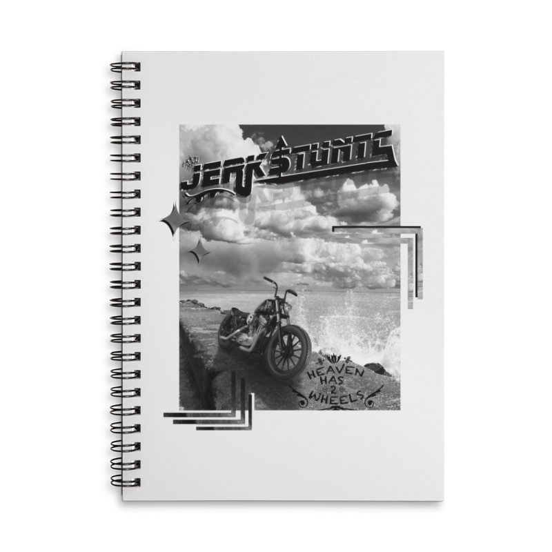 HEAVEN HAS 2 WHEELS CYBERTECH REMIX Accessories Lined Spiral Notebook by ExploreDaily's Artist Shop