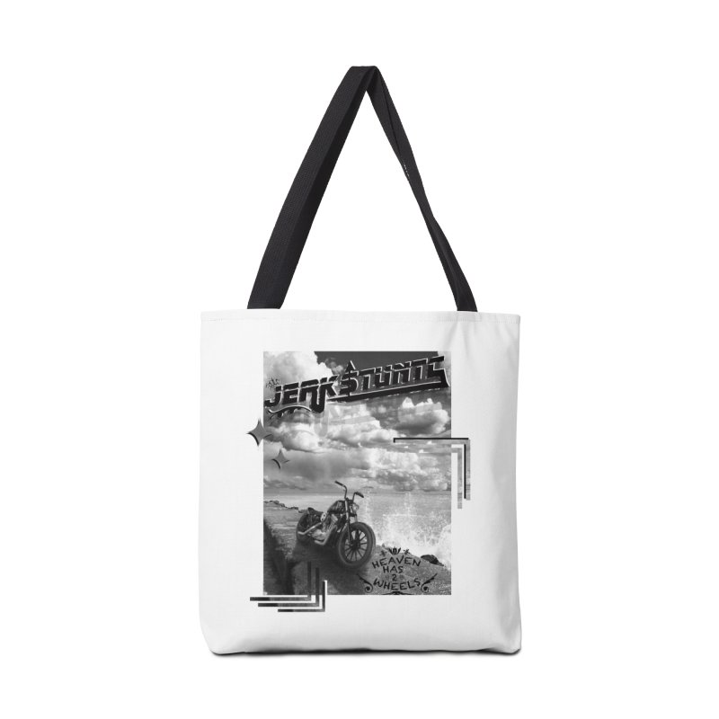 HEAVEN HAS 2 WHEELS CYBERTECH REMIX Accessories Tote Bag Bag by ExploreDaily's Artist Shop