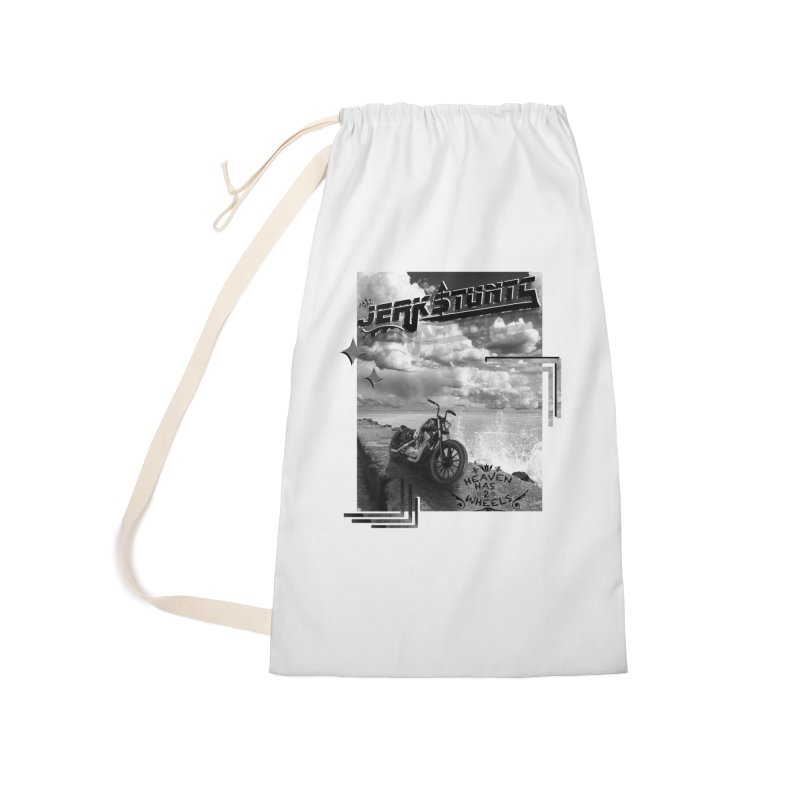 HEAVEN HAS 2 WHEELS CYBERTECH REMIX Accessories Laundry Bag Bag by ExploreDaily's Artist Shop