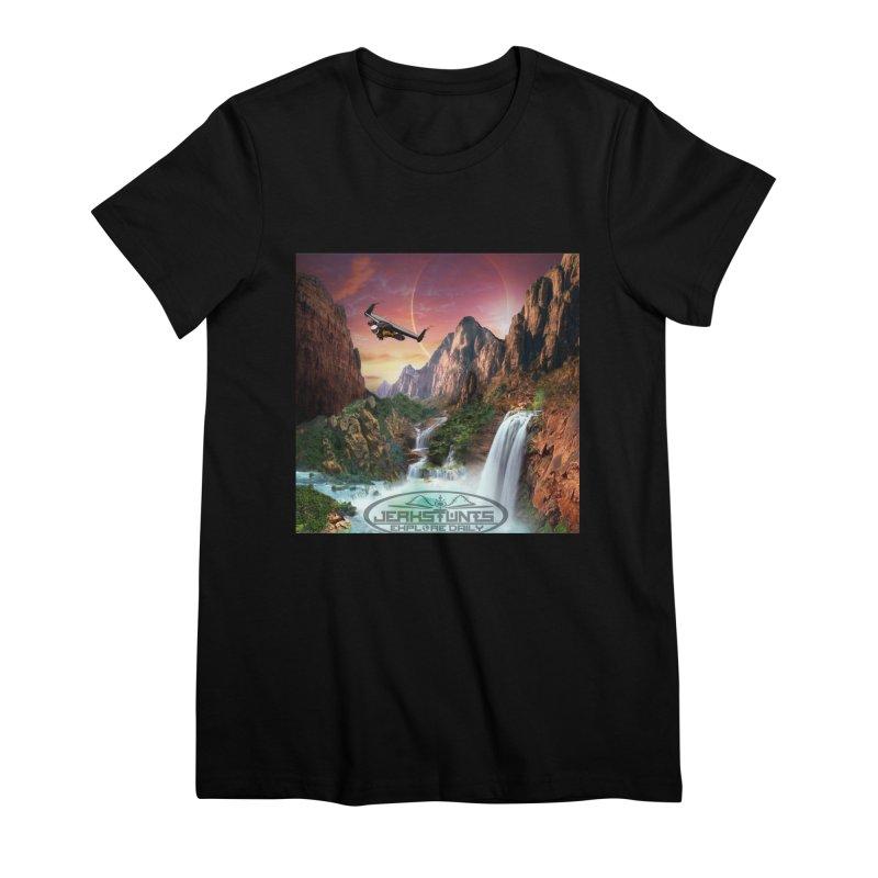 WINGMAN EXPLORE DAILY JERKSTUNTS LIFESTYLE Women's Premium T-Shirt by ExploreDaily's Artist Shop