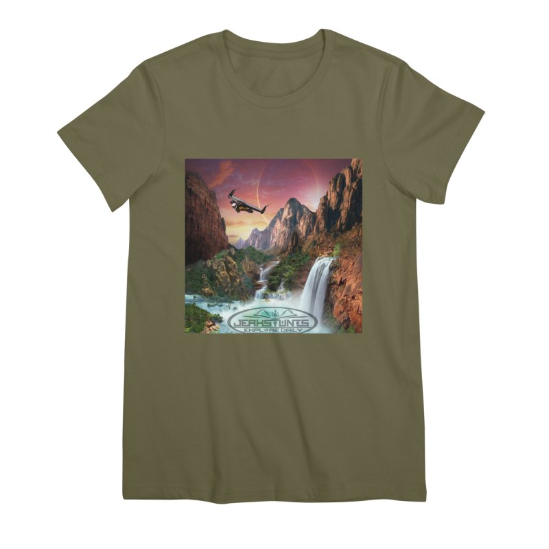 WINGMAN EXPLORE DAILY JERKSTUNTS LIFESTYLE Women's Premium T-Shirt by ExploreDaily's Artist Shop