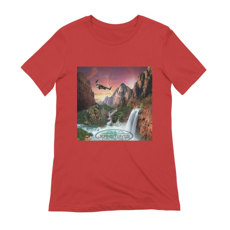 WINGMAN EXPLORE DAILY JERKSTUNTS LIFESTYLE Women's Extra Soft T-Shirt by ExploreDaily's Artist Shop