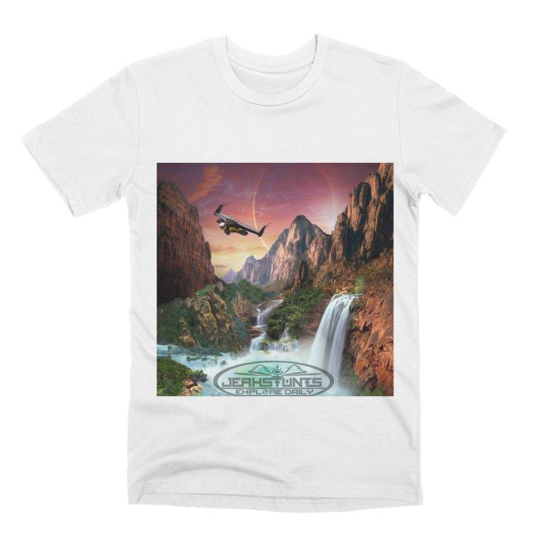 WINGMAN EXPLORE DAILY JERKSTUNTS LIFESTYLE Men's Premium T-Shirt by ExploreDaily's Artist Shop