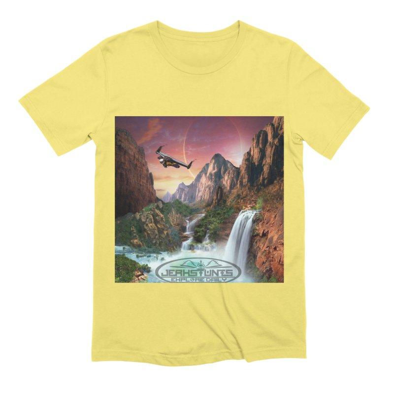 WINGMAN EXPLORE DAILY JERKSTUNTS LIFESTYLE Men's Extra Soft T-Shirt by ExploreDaily's Artist Shop
