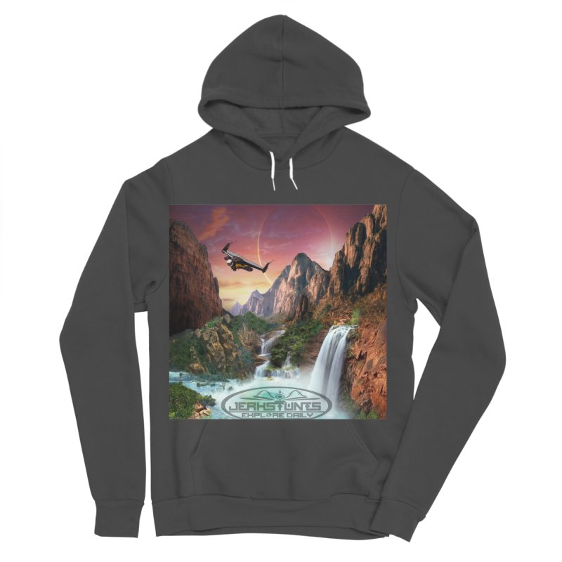 WINGMAN EXPLORE DAILY JERKSTUNTS LIFESTYLE Men's Sponge Fleece Pullover Hoody by ExploreDaily's Artist Shop