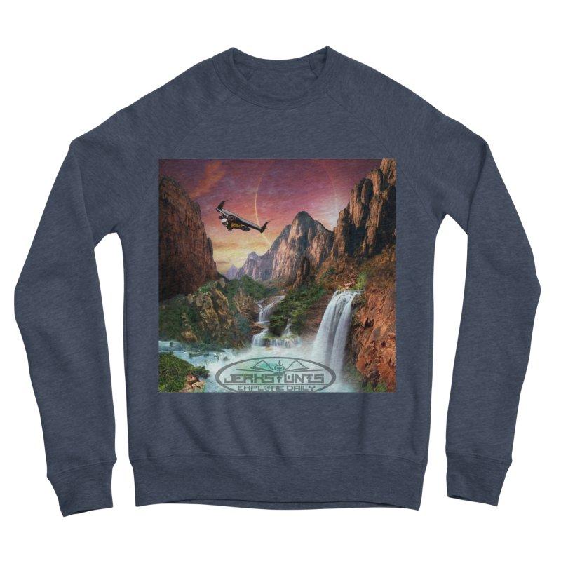 WINGMAN EXPLORE DAILY JERKSTUNTS LIFESTYLE Men's Sponge Fleece Sweatshirt by ExploreDaily's Artist Shop