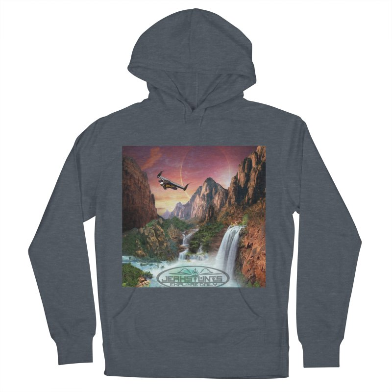 WINGMAN EXPLORE DAILY JERKSTUNTS LIFESTYLE Women's French Terry Pullover Hoody by ExploreDaily's Artist Shop